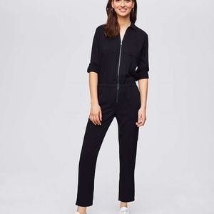 NWT LOFT Utility Zip Up Jumpsuit - Black